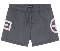 Badehose Plus-Minus-Design - Boardshorts - Grau