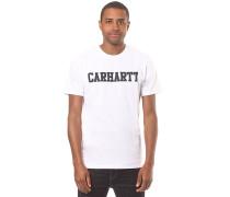College - T-Shirt - Weiß
