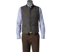 Herren Jacke Weste Woll-Mix graubraun gemustert braun,grau,grau