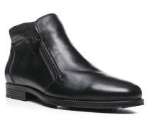 Herren Schuhe PINAR Kalbleder, Lammfell gefüttert schwarz
