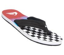 Herren Schuhe Zehensandalen Textil schwarz-weiß