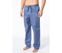 Pyjamahose, Baumwolle, jeansblau gemustert