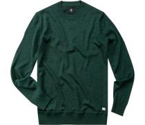 Pullover Felix-2 Schurwolle flaschengrün