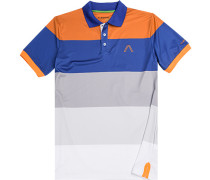 Polo-Shirt Polo Microfaser Drycomfort® orange- gestreift