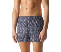 Herren Unterwäsche Boxer-Shorts Baumwoll-Stretch paisley blau