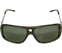 Herren Brillen strellson Sportswear Sonnenbrille Kunststoff-Metall grün gemustert