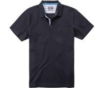 Polohemd Baumwolle mercerisiert nachtblau