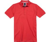 Polo-Shirt Polo Modern Fit Baumwoll-Piqué koralle