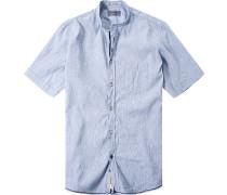 Hemd Modern Fit Baumwolle hellblau meliert