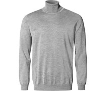 Pullover Slim Fit Merino Extrafine meliert