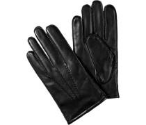 Herren  Handschuhe Lammleder schwarz rot,schwarz