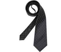 Herren Krawatte  grau,weiß
