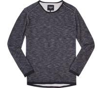 Pullover Baumwolle navy meliert