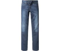 Herren Jeanshose Modern Fit Baumwoll-Stretch denim blau