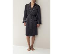 Herren 'Silk Nightwear' Morgenmantel Seide in 2 Farben blau,schwarz,weiß