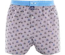 Herren Unterwäsche Boxershorts Baumwolle bleu-braun gemustert