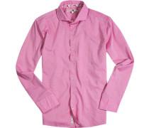 Hemd, Chambray, pink meliert