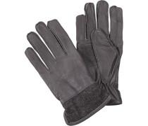 Handschuhe Leder dunkelgrau