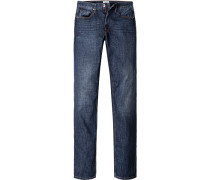 Jeans, Regular Fit, Baumwolle, jeansblau