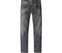 Blue-Jeans Adam Slap Denim Slim Fit Baumwolle nachtblau
