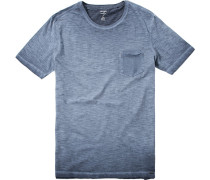 T-Shirt Damenunterwäsche Fit Baumwolle rauchblau meliert