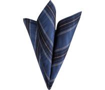 Accessoires Einstecktuch, Seide, saphirblau-weiß gestreift