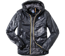 Regenjacke, Regular Fit, Microfaser wattiert