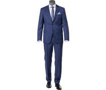 Anzug, Modern Fit, Schurwolle Super110, rauchblau meliert