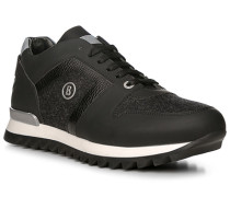 Schuhe Sneaker, Kalbleder-Loden, -anthrazit