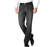 Herren Jeans Contemporary Fit Baumwoll-Stretch schwarz