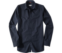 Hemd, Regular Fit, Popeline, navy