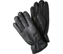 Herren ROCKEL Handschuhe Lammleder schwarz