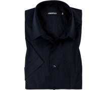 Hemd, Baumwolle, nachtblau