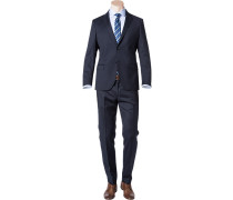 Anzug, Slim Fit, Schurwolle Super130 Loro Piana, nachtblau