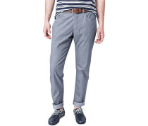 Herren Jeans Regular Fit Baumwoll-Stretch dunkelgrau gestreift