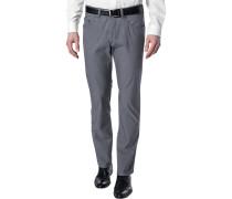 Herren Blue-Jeans Regular Fit Baumwoll-Stretch graublau