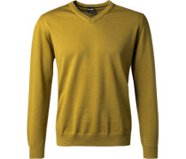 Pullover Modern Fit Merinowolle anis
