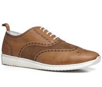 Schuhe Sneaker, Veloursleder, cuoio
