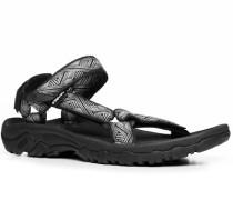 Herren Schuhe Sandalen Textil schwarz-grau gmeustert