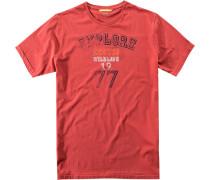 Herren T-Shirt Baumwolle ziegelrot