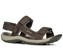 Schuhe Broadstone dunkelbraun Leder, Nylon