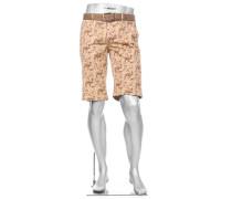 Hose Bermudashorts Lou-K-J Regular Slim Fit Baumwolle gemustert