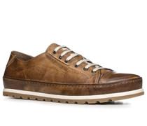 Herren Schuhe Sneaker Leder cognac braun,braun