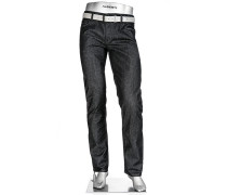 Herren Blue-Jeans Regular Slim Fit Baumwoll-Stretch T400 dunkelgrau