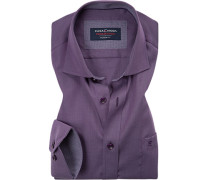 Hemd Modern Fit Twill violett