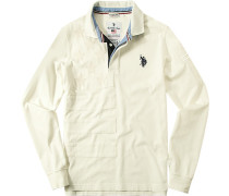 Polo-Shirt Polo, Baumwoll-Jersey, creme