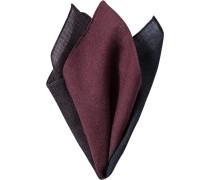 Herren Accessoires  Einstecktuch Wolle braun-rot rot,braun,grau