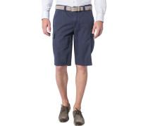 Herren Hose Bermuda Modern Fit Baumwoll-Stretch dunkelblau