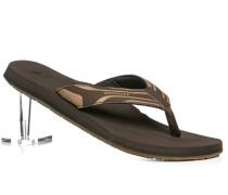 Schuhe Zehensandalen Leder-Textil