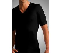 Herren T-Shirt Mako-Baumwolle schwarz
